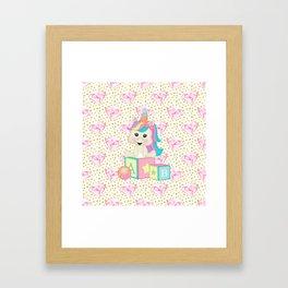 Baby Unicorn Framed Art Print