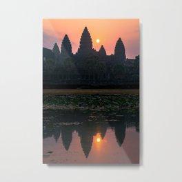 Sunrise in Angkor Wat Metal Print