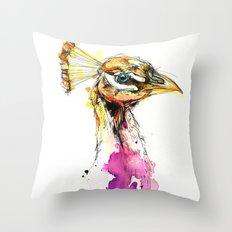 Sunset Peacock Throw Pillow