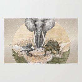 Elephant tea time Rug
