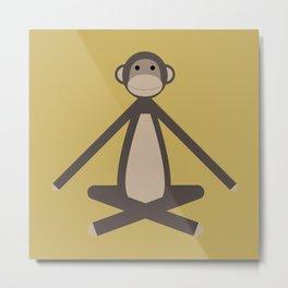 Happy Monkey Metal Print
