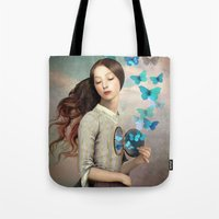 christian Tote Bags featuring Set Your Heart Free by Christian Schloe