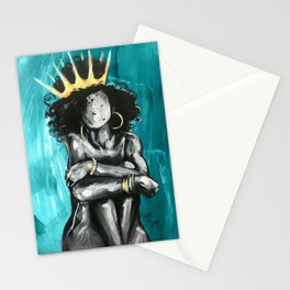 Naturally Queen IX TEAL Stationery Cards