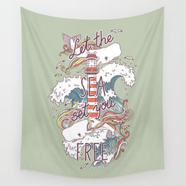 Whales and Waves Wall Tapestry