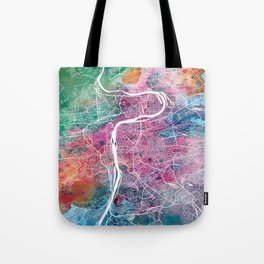 Prague city map Tote Bag