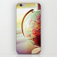 globe iPhone & iPod Skins featuring Globe  by Jo Bekah Photography