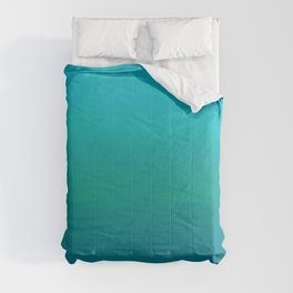Ombre, Blue to Teal Comforters