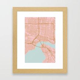 Jacksonville map, Florida Framed Art Print