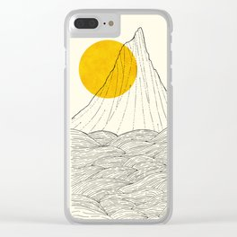 The tall cliff by the sea Clear iPhone Case