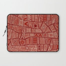 ESHE red mono Laptop Sleeve