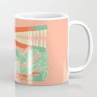 crocodile Mugs featuring Crocodile by Natalie Young