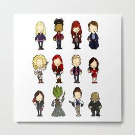 Doctors Companions and friends Metal Print