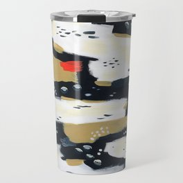 Spotted Abstract in Neutral Travel Mug