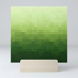 Gradient Pixel Green Mini Art Print