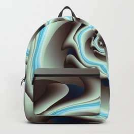 Abstract Geometric Swirl with Blue Backpack