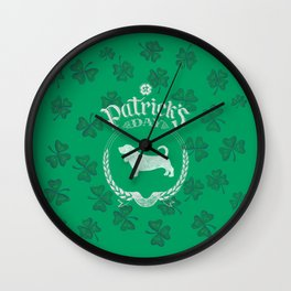 St. Patrick's Day Basset Hound Funny Gifts for Dog Lovers Wall Clock