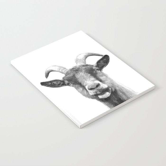 Black and White Goat Notebook