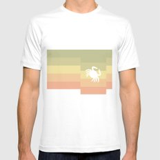 Out At Sea Series - Sideways and Crabby MEDIUM Mens Fitted Tee White