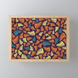 Fern Frond in Yellow and Orange Framed Mini Art Print