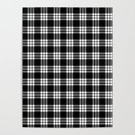 MacFarlane Black + White Tartan Modern Poster