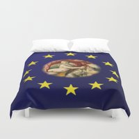 europe Duvet Covers featuring Europe by Turul