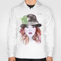 emma stone Hoodies featuring Emma Stone by Vicky Ink.