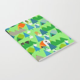 Forest with cute little bunnies and bears Notebook