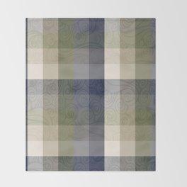 Chambray Fiord Swirly Plaid Throw Blanket