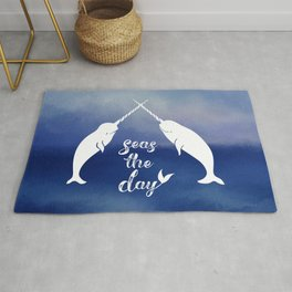 Narwhal Seas the Day Rug