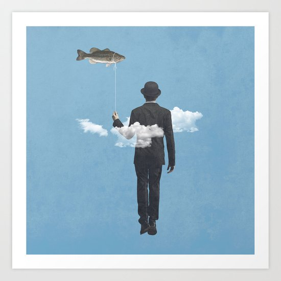 fly fishing Art Print