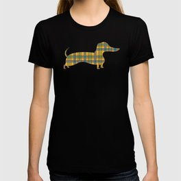 Autumn Jamboree Plaid Harvest Corn with Dachshund T-shirt