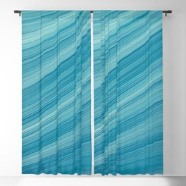 Elegant Blue Waves Blackout Curtain