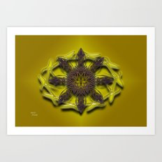 Abstract X Eight Art Print
