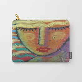 Abstract Blonde Acrylic Painting on OSB Board Carry-All Pouch