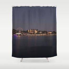 Torquay At Night Shower Curtain