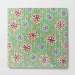 Kantha floral 8 Metal Print