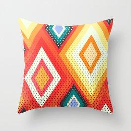 Decorative rhombs Throw Pillow