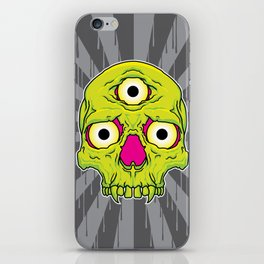 3 Eyed Jackass (green) iPhone Skin
