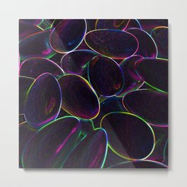 Psychedelic Candy Black Metal Print