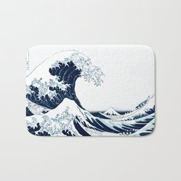 The Great Wave - Halftone Bath Mat