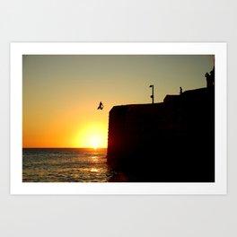 Sun leap Art Print