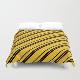 Potterverse Stripes - Hufflepuff Yellow Duvet Cover