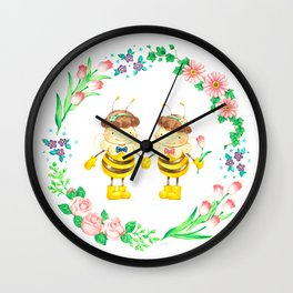HONEY GARDEN Wall Clock