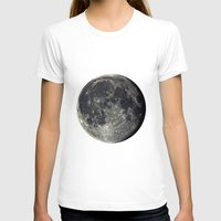 the moon T-shirts featuring Moon by Pete Baker