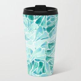 FERNING: Aqua ferns (2015) Travel Mug