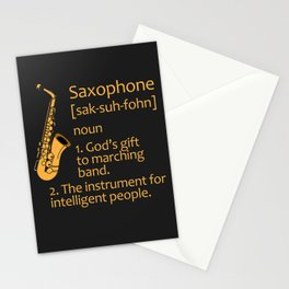 SAXOPHONIST SAXOPHONE FUNNY GIFT IDEA Stationery Cards