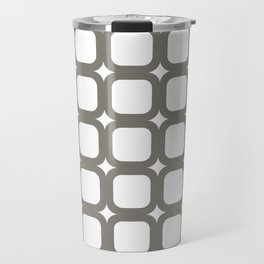 RoundSquares Gray on White Travel Mug