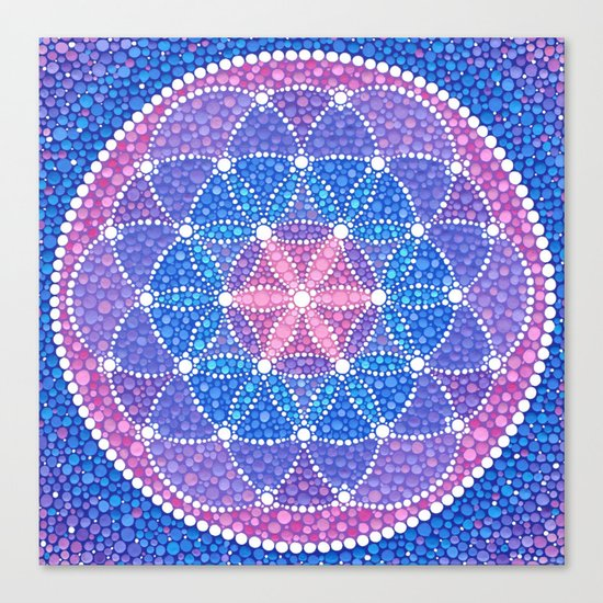 Starry Flower of Life Canvas Print