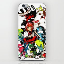 Colorfull Monsters iPhone Skin