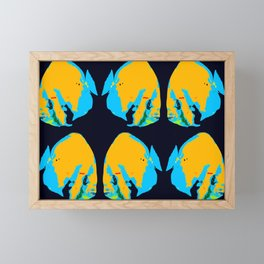 Tropical fish fashion work A Framed Mini Art Print